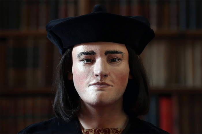 A reconstruction of King Richard III based on his skeletal remains.